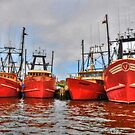Shades of Orange - Fishing boats by Poete100
