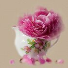 Little jug and peony by inkedsandra