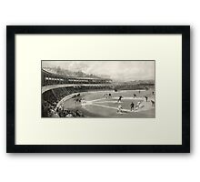 Vintage Baseball Game Framed Print