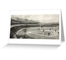 Vintage Baseball Game Greeting Card