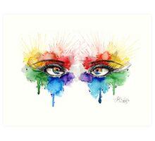 Eyes of Color Art Print