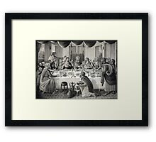 Jesus Christ and the Last Supper Framed Print