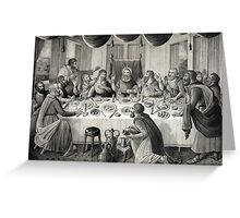 Jesus Christ and the Last Supper Greeting Card
