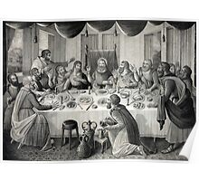 Jesus Christ and the Last Supper Poster