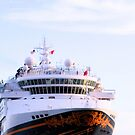 Disney Cruise Ship at Key West Florida by Sheryl Unwin