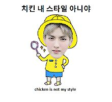 Kris Chicken Is Not My Style Photographic Print