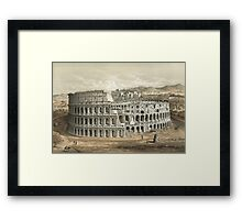 Vintage Painting of the Roman Coliseum Framed Print