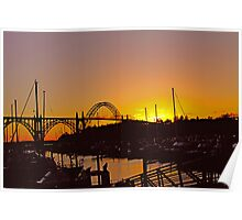 Summer Sunset at Yaquina Bay Bridge  Poster