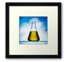 eco fuel in Erlenmeyer flask  Framed Print