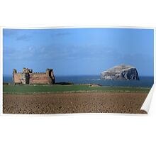 Tantallon Castle and the Bass Rock Poster