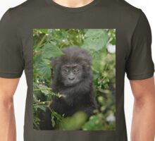 baby mountain gorilla, Bwindi, Uganda Unisex T-Shirt