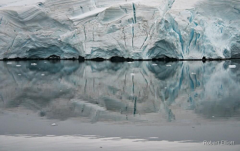Glacier Reflections ~ Antarctica by Robert Elliott