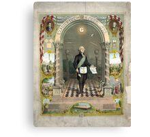 George Washington as a Freemason Canvas Print