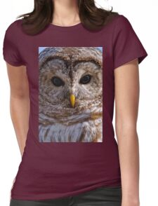 Barred Owl Womens Fitted T-Shirt