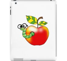Smart bookworm with red apple iPad Case/Skin