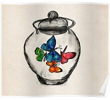 Jar of Butterflies Poster