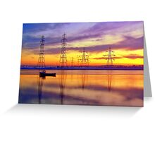 Sunset Over Alloa Harbour. Greeting Card