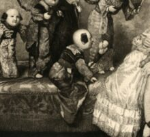 Sleeping Girl Dreams of Living Dolls Sticker