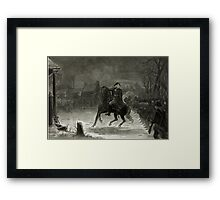 George Washington at the Battle of Trenton Framed Print