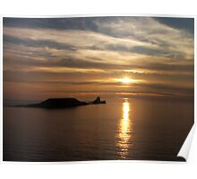 Worms Head, off Rhossili Bay, Wales,UK Poster