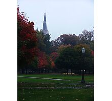 Fall Rain - Notre Dame Campus, South Bend, Indiana, USA Photographic Print