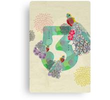 3 [Alphabet Challenge] Canvas Print