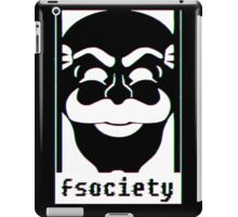 F Society Glitch - White iPad Case/Skin