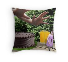 Oh No..Not the cake! Throw Pillow