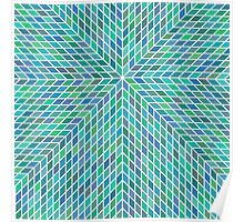Cross Abstract Pattern Poster