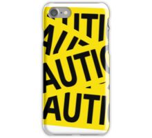 Caution tape iPhone Case/Skin