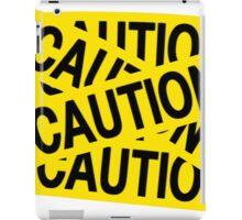Caution tape iPad Case/Skin
