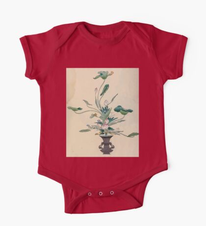 The flowers of Japan and the art of floral arrangement Josiah Conder 1892 0095 Early Style of Flower Arrangement Shin No Hana One Piece - Short Sleeve