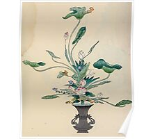 The flowers of Japan and the art of floral arrangement Josiah Conder 1892 0095 Early Style of Flower Arrangement Shin No Hana Poster