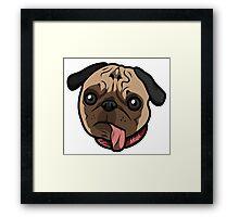 Misfit Pug Framed Print