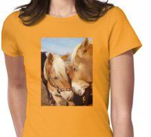 Palomino haflinger horses Womens Fitted T-Shirt