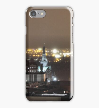 Glasgow Cathedral at night iPhone Case/Skin