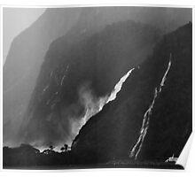 Milford Waterfalls Poster