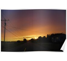 Sunset Through the Windshield Poster