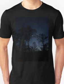 Dark Night Sky Picture  T-Shirt