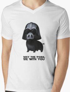 Star Wars: Pig Darth Vader Mens V-Neck T-Shirt