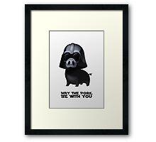 Star Wars: Pig Darth Vader Framed Print