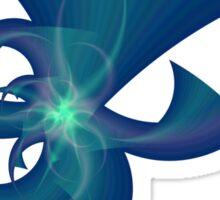 Blue Horns Sticker