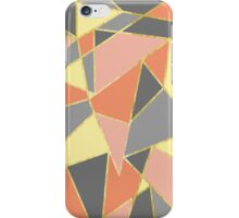 Fall Colors Geometric with Faux Gold Outline iPhone Case/Skin