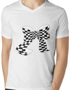Bow Mens V-Neck T-Shirt