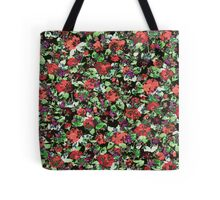 Red and Purple Floral Mash Up Tote Bag