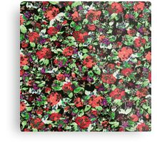 Red and Purple Floral Mash Up Metal Print