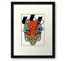 Red Devil & Sugar Skull! Framed Print