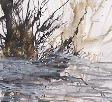 Desolation: A Winter Mixed Media Artwork by ArtCreationist