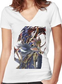 YuGi and BLS Women's Fitted V-Neck T-Shirt