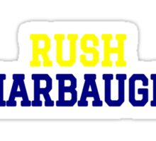 Rush Harbaugh Sticker
